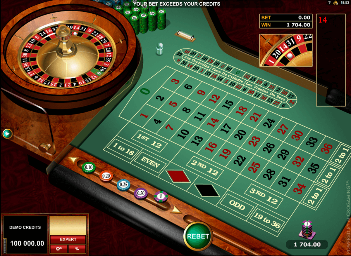 Microgaming European Roulette 33989